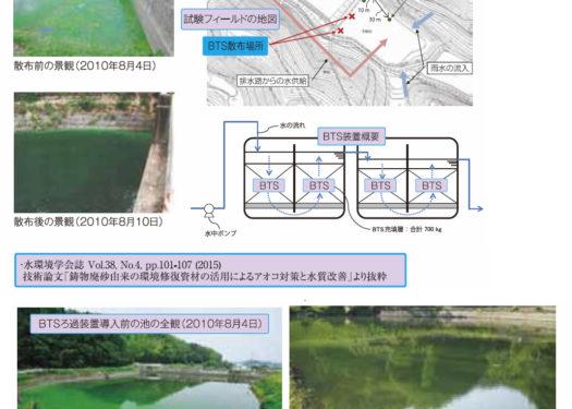 農業用貯水池のアオコ対策と水質改善